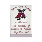 Bells Save the Date Rectangle Magnet (100 pack)