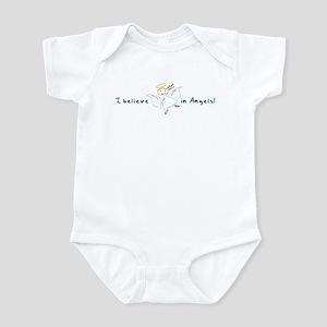 I believe in Angels Cartoon Infant Bodysuit