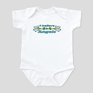 I Believe in Angels Trumpet Infant Bodysuit