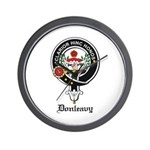 Donleavy Clan Crest Badge Wall Clock