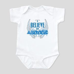 I believe in Angels Grunge Infant Bodysuit