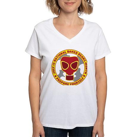 National Baked Beans Month Women's V-Neck T-Shirt
