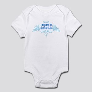 I believe in Angels Tail Infant Bodysuit