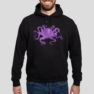 Purple Octopus Hoodie (dark)