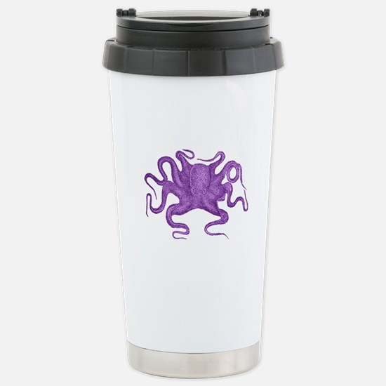 Purple Octopus Stainless Steel Travel Mug