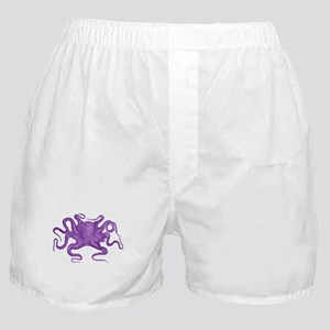 Purple Octopus Boxer Shorts