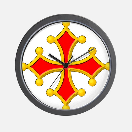 Cross of Toulouse Wall Clock