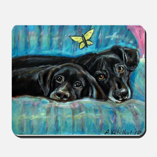 Portrait of Labs, Jade & Jasm Mousepad
