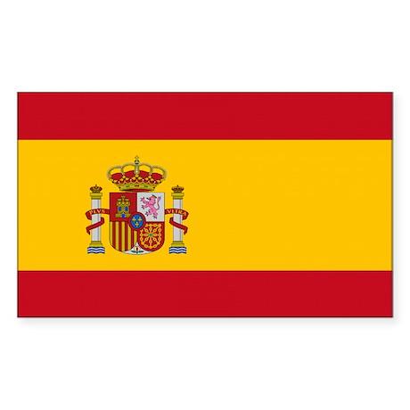 Spain Flag Sticker (Rectangle)
