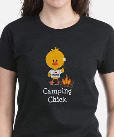 Camping Chick Women's Dark T-Shirt