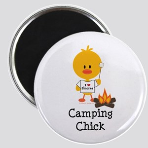 Camping Chick Magnet