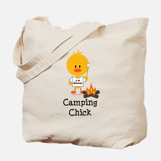Camping Chick Tote Bag