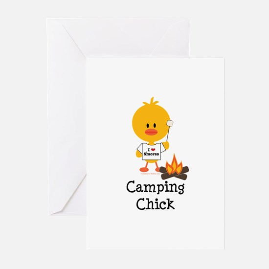 Camping Chick Greeting Cards (Pk of 10)