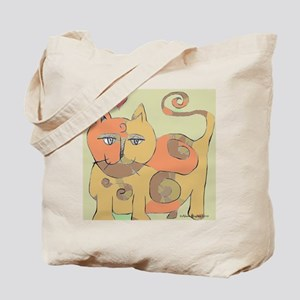 Spiral Cat Tote Bag