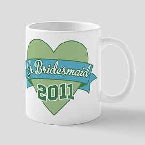 Heart Junior Bridesmaid 2011 Mug