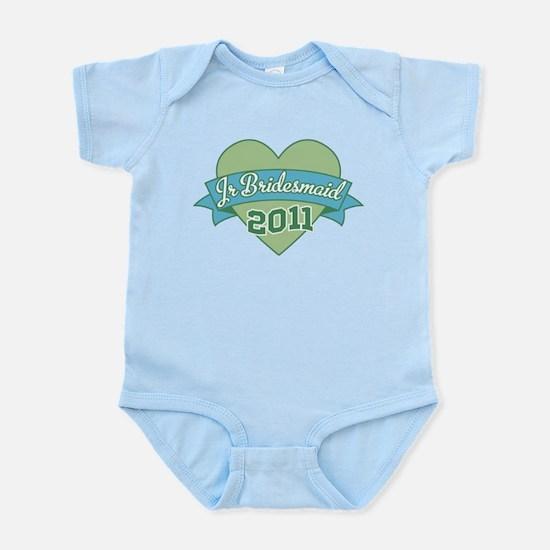 Heart Junior Bridesmaid 2011 Infant Bodysuit