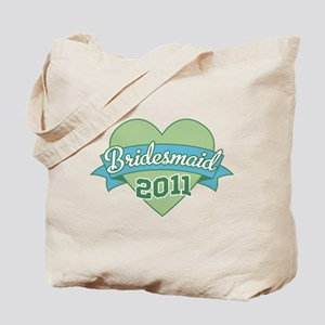 Heart Bridesmaid 2011 Tote Bag