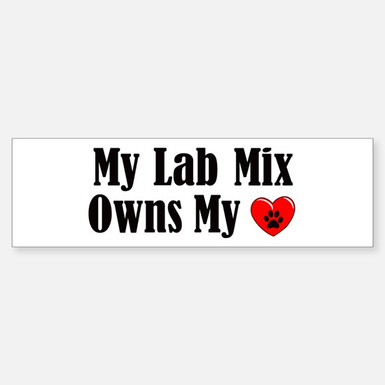 Heart Owning Lab Mix Sticker (Bumper)