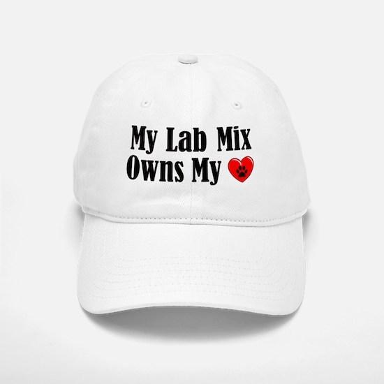 Heart Owning Lab Mix Baseball Baseball Cap