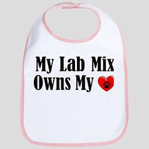 Heart Owning Lab Mix Bib