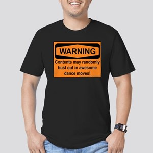 Warning Men's Fitted T-Shirt (dark)
