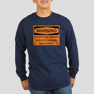 Warning Long Sleeve Dark T-Shirt