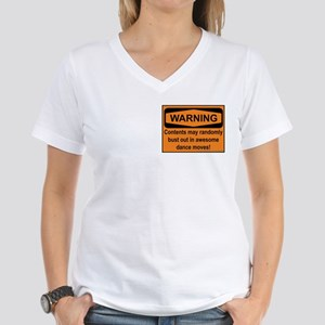 Warning - 2 sided Women's V-Neck T-Shirt