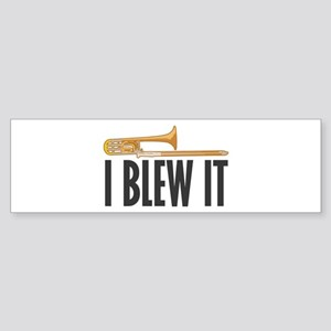 I Blew It Trombone Sticker (Bumper)