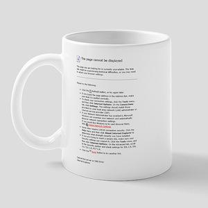 Page Not Displayed Mug