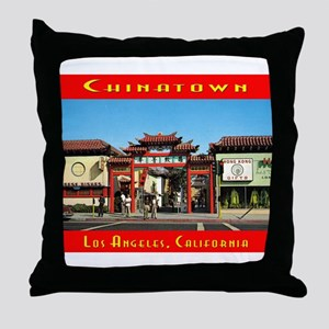 Chinatown L.A. Throw Pillow