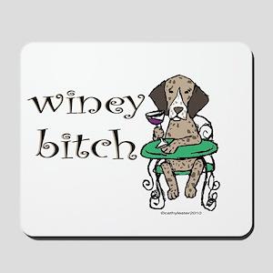 Winey German Shorthair Pointer Mousepad