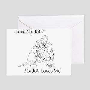 Veterinary Design (Male) Greeting Card