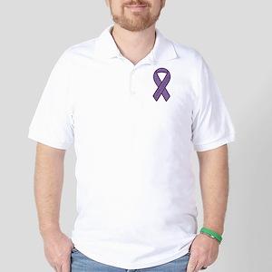 Purple Ribbon Golf Shirt