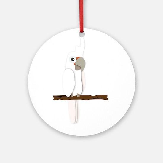 Goffin's Cockatoo Ornament (Round)