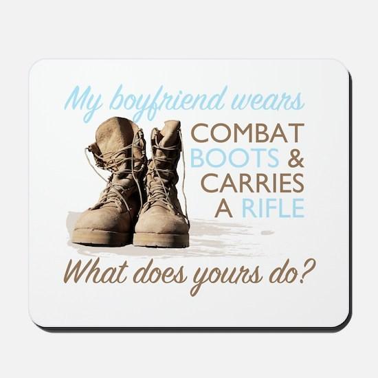 My Boyfriend Wears Combat Boo Mousepad