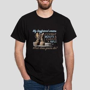 My Boyfriend Wears Combat Boo Dark T-Shirt