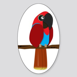Eclectus Female Sticker (Oval)