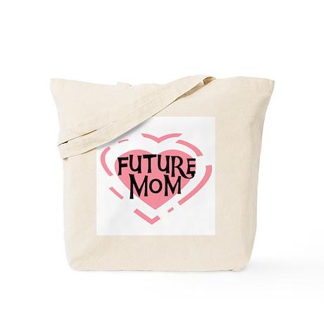 Pink Heart Future Mom Tote Bag