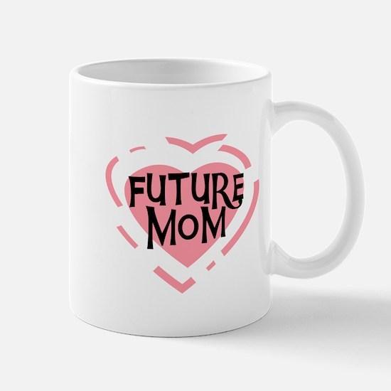 Pink Heart Future Mom Mug