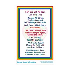 Spiritual Growth Affirmations Print