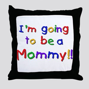 Primary Colors Future Mommy Throw Pillow