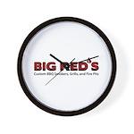 Big Red's BBQ Smokers Wall Clock