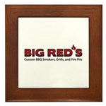 Big Red's BBQ Smokers Framed Tile