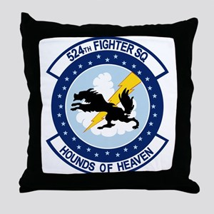 524th Fighter Squadron Throw Pillow