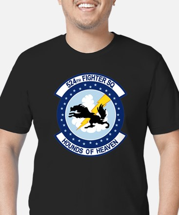 524th Fighter Squadron Men's Fitted T-Shirt (dark)