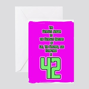Ultimate Answer-42 Greeting Card