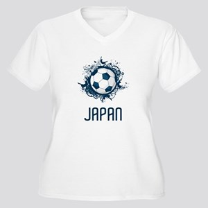 Japan Football Women's Plus Size V-Neck T-Shirt