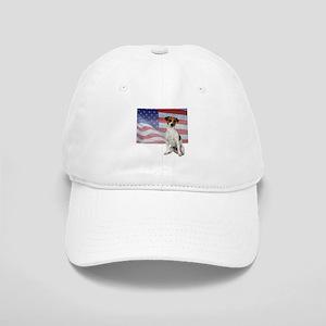 Patriotic Jack Russell Terrier Cap
