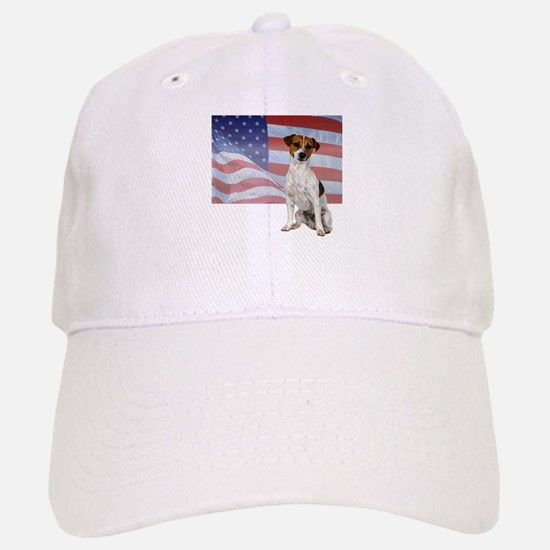 Patriotic Jack Russell Terrier Baseball Baseball Cap