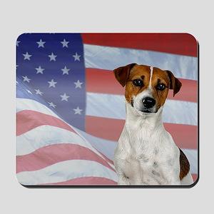 Patriotic Jack Russell Terrier Mousepad